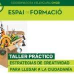 FORMACION INTERNA CVONGD: ESTRATEGIAS DE CREATIVIDAD PARA LLEGAR A LA CIUDADANÍA